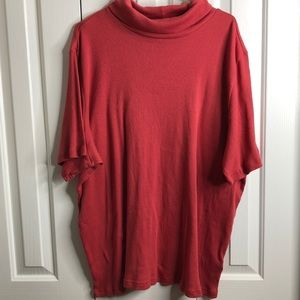 Woman within size 34/36 burnt orange ribbed top